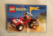 Lego System #6518 Baja Buggy Instruction Assembly Chart ONLY