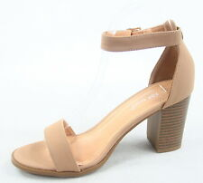 Women's Buckle Open Toe Ankle Strap Chunky Heels Sandals Shoes Size 5 - 10 NEW