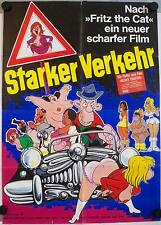 Starker Verkehr Filmposter A1 Heavy Traffic Ralph Bakshi Fritz the Cat Flipper