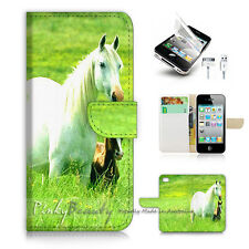 iPhone 5 5S Print Flip Wallet Case Cover! Horse Pony P1464
