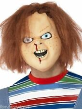 CHUCKY FULL OVERHEAD LATEX MASK & HAIR HORROR HALLOWEEN ADULT