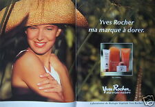PUBLICITÉ 1990 YVES ROCHER MA VRAIE NATURE SOIN SOLAIRE - ADVERTISING