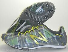 NEW BALANCE MR800 TRACK SHOES SPIKES SIZE 11.5 NAVY BLUE GREEN GOLD PLAID