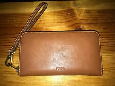 Fossil Emma RFID Leather Smartphone Wristlet *Brown*-Nwt's