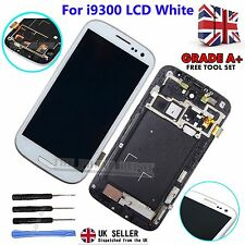 For Samsung Galaxy S3 i9300 LCD Touch Screen Display Digitizer & Frame White UK