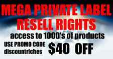 Access To 1000's Of Private Label Rights and Master Resell Rights Products