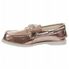 Sperry Top-Sider A/O Metallic Pink Boat Shoes NIB School Girls Size 13.5