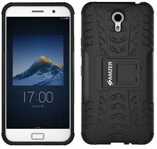 AMZER Dual Layer Hybrid Armor Warrior Case With Stand For Lenovo ZUK Z1 - Black