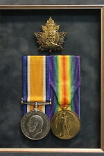 c1917 Canada. WWI. 230th Batallion CFC. Medals and Cap Badge. Issued. RARE.