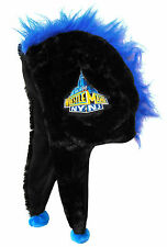 WWE WRESTLING - WRESTLEMANIA FUZZY MOHAWK BLACK EARFLAP HAT NEW OFFICIAL