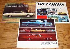 Original 1965 1966 1967 Ford Full Line Sales Brochure Lot of 3 65 66 67 Mustang