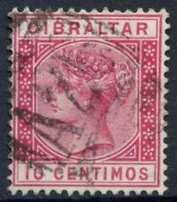 Gibraltar 1889-96 SG#23, 10c Carmine QV Used #D18017