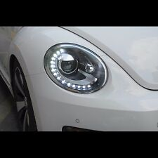 LED Tears DRL and Xenon HID Projector Headlights For Volkswagen Beetle 2011~2014