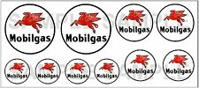 1:43 O SCALE MOBILGAS SIGN BOXCAR GAS STATION TANKER TRUCK DIORAMA DECALS