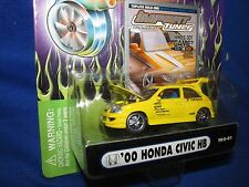 honda civic HB Import tuner Muscle machine funline  honda yellow 1/64 2000 fast