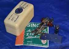 SINGER 221 SEWING MACHINE AUTOMATIC ZIG ZAG WHITE CASE