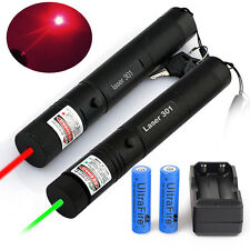 Power Military 5mw 532nm Green Red Laser Pointer Pen Visible Light+18650+Charger