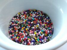 50g 3mm 8/0 Glass Seed Beads - Opaque ASSORTED COLORS ( MIX 3)
