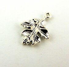 Sterling silver Oak leaf charm