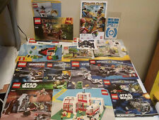 Assorted Lego Building Manuals from Various Sets - LOT of 18 Star Wars Creator