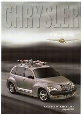 CHRYSLER PT CRUISER Accessories listino prezzi 2000-01 Regno Unito mercato OPUSCOLO illustrativo
