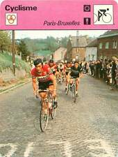 """FICHE CARD: """"Brussels Cycling Classic"""" Courses cyclistes Cycling CYCLISME 1970s"""