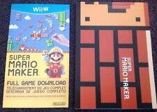Super Mario Maker Nintendo Wii U Full Game Digital Download + Idea Book NEW