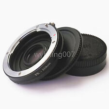 Pentax K PK Lens to Nikon F Adapter Infinity focus Glass + Tracking NO.