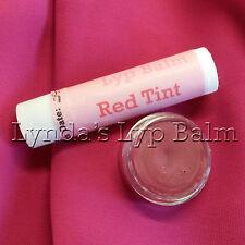 Fatto A Mano Organico Balsamo Labbra Naturale-NON aromatizzato ROSSO TINTA TUBO 5ml