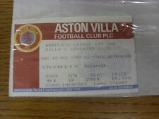 18/11/1989 Ticket: Aston Villa v Coventry City. Thanks for viewing this item, bu