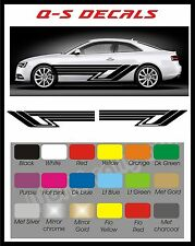 Car Side Stripe Decals Graphics Stickers BG683 Any Colour Both sides