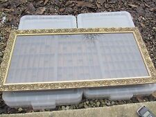 Antique Wooden Printers Drawer Tray Wall Display Rack Vintage Old    Gold Framed