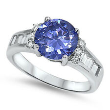 AMETHYST, AQUAMARINE, RAINBOW, EMERALD, TANZANITE, BLUE SAPPHIRE 925 RINGS 5-10