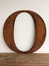 Large 40cm Letter O Rusty Rusted Metal Industrial Sign Decoration Ornament