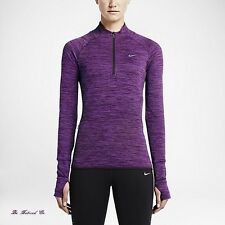 Nike Sphere Element Women's Half Zip Long Sleeve Running Top S Purple Gym New