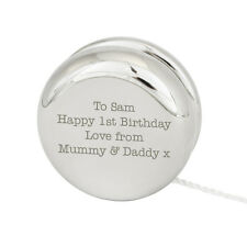 Personalised Silver Finished YoYo - Free Laser Engraving- Great Christening Gift