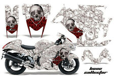 Amr Racing Graphic Kit Suzuki GSXR 1300 Hayabusa GSX R Bike Decal Wrap BONES WHT