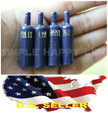 4 bottle x 1/6 SKYY VODKA wine Dollhouse Miniature Bar Drink Decor Hot Toys USA
