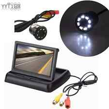 "Car Rear View 170° 8LED Night Vision Camera & 4.3"" Foldable LCD Display Monitor"