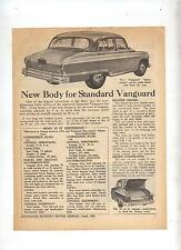1953 Vanguard Spacemaster Original Article Removed from an Australian Magazine