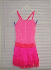 The Competitor Costumes PINK Flapper Dance Costume Size MA Rhinestones