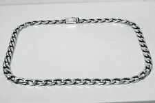 Chain Gents Metric Figaro 1x1  Sterling Solid 925 Silver Man Men Gents