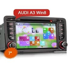AUTORADIO GPS 2 DIN ERISIN AUDI A3 INTERNET 3G DVD USB MP3 DIVX WIN8 NO DOGANA