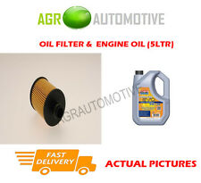 DIESEL OIL FILTER + LL 5W30 ENGINE OIL FOR VAUXHALL CORSA 1.3 95 BHP 2010-