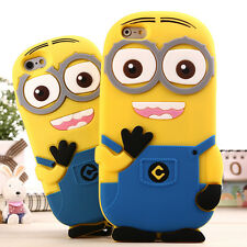 Cute 3D Cartoon Minions Silicone Case Back Cover Skin for iPod Touch 5 5th Gen
