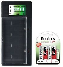UNiROSS UNIVERSAL AA/AAA/C/D/PP3 BATTERY CHARGER+ 4 x AA 2100 HYBRIO BATTERIES