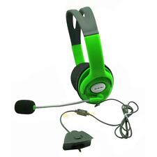 Slim Wire Controller for Xbox 360 Live Green Headset Headphone Green with Mic