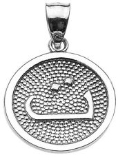 """Sterling Silver Arabic Letter """" taa"""" t Initial Charm Pendant"""