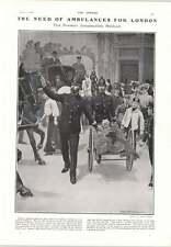1905 Amateurish Ambulances In London Streets Firewood Cutting And Baving
