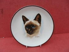 "Crown Staffordshire Cat Collectors Plate (approx 6.5"" diameter) Siamese Cat"